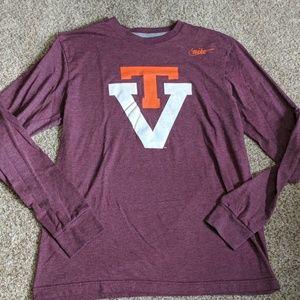 Nike standard Virginia tech long sleeve shirt